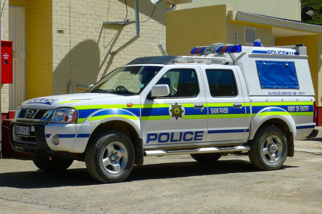 Südafrika Polizeiauto